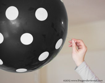 Black - Confetti Balloon Revealer for Gender Reveal Parties