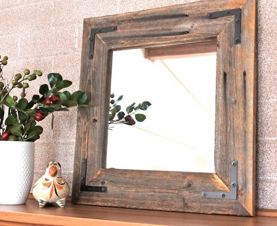 Ready to ship rustic modern mirror reclaimed wood mirror for Rustic mirror