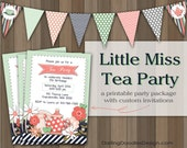 Little Miss Tea Party Printable Party Package