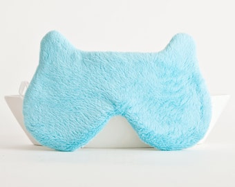 Bear Sleep Mask, Blue Mask for Women, Fluffy Mask, Slumber Party Favors, fathers day gift