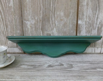 Teal Painted Wall Shelf