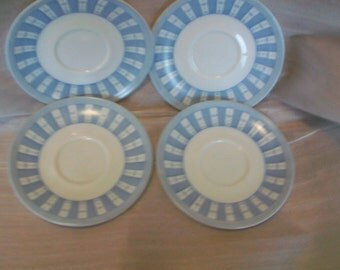 Blue and White Saucers by Martha Stewart