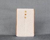Card Holder. Beige. Crystal studded. Slim wallet. Eco-Friendly