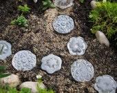 Fairy Garden stepping stones, miniature gardening terrarium