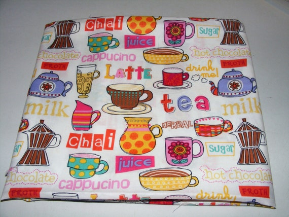 Tea cup fabric - Coffee and Latte and Tea