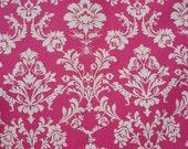 Echino Fabric Decoro Vibrant Pink Linen Cotton Width 110cm Home Deco
