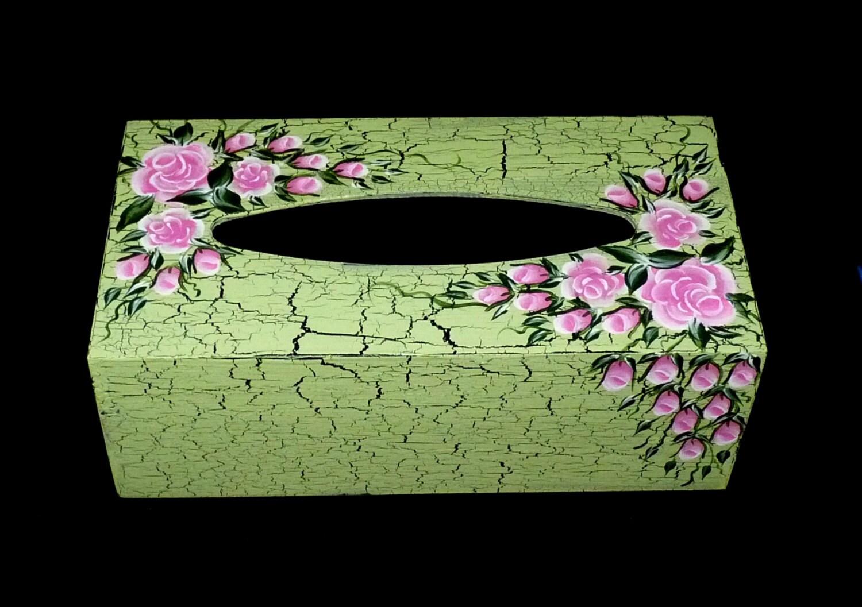 ?zoom  sc 1 st  Etsy & Tissue Box Decorative Wood Tissue Box Cover Holder Organizer Aboutintivar.Com