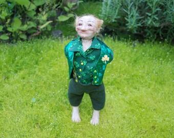 Garden Leprachaun HANDMADE Elf Sprite Faerie Fairy Doll OOAK