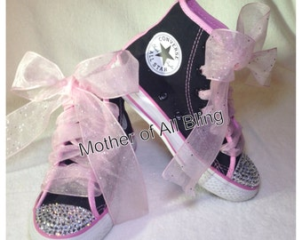 Swarovski Crystal Converse Hi-Top Shoes