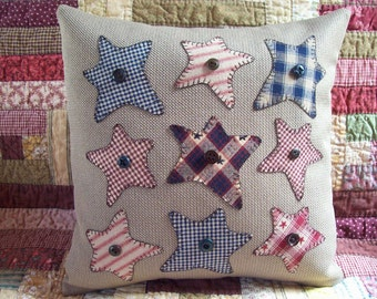 Rustic Stars Summer Holiday Pillow Slipcover