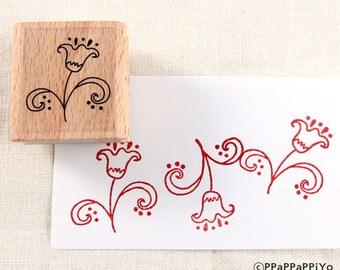 50% OFF SALE Flower pattern Rubber Stamp FP11
