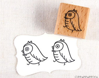 50% OFF SALE Owl is walking O1 Rubber Stamp