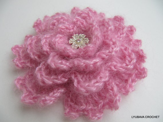 CROCHET FLOWER PATTERN, Crochet Brooch, Flower Brooch, Diy Crochet Flowers, Instant Download Pdf Pattern No.34