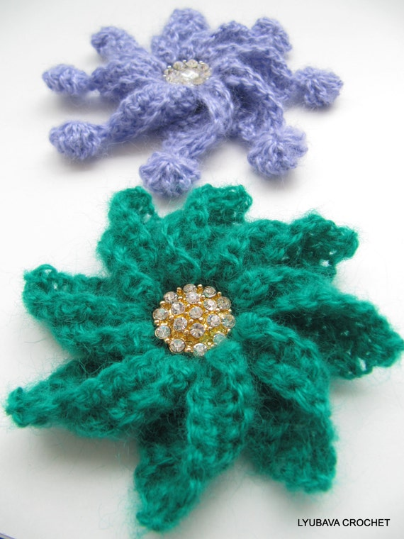 Crochet A Flower Brooch Pattern : CROCHET PATTERN Crochet Brooch Flower Brooch Diy by ...