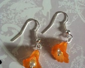 Petite Orange Lily Earrings