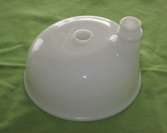 Vintage White Milk Glass Electric Mixer Juice Bowl Top Mount Attachment for Sunbeam Mixer