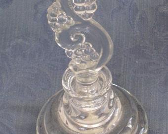 Elegant Antique Pressed Glass Perfume Bottle - Dresser, Vanity, Vintage Home Decor