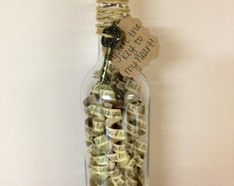 Gift for Husband or Boyfriend, 50 Things I Love About You Message in a bottle.. One of a Kind, Unique Gift