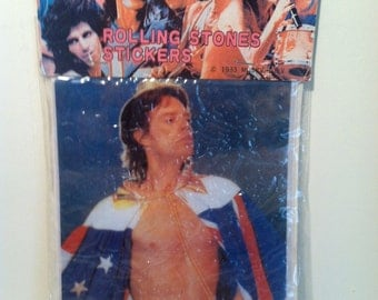 Vintage The Rolling Stones Mick Jager Puffy Sticker - 1983.