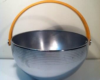Vintage Chrome and Bakelite Bowl.