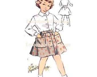 Plus Size (or any size) Vintage 1950s Skirt Pattern - PDF - Pattern No 138b Amy Skirt