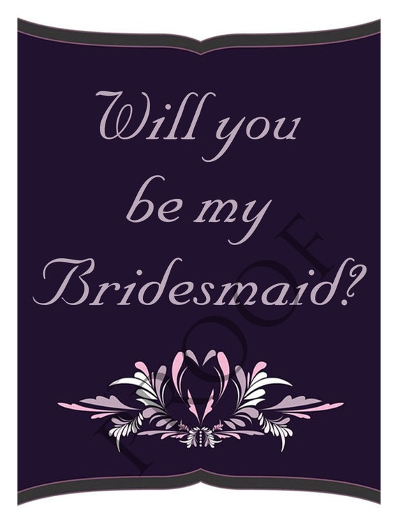 Wedding Party Maid of Honor/Bridesmaid Wine Label or Digital File Custom & Personalized Available