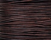 EXTRA FINE .5MM Leather Cording-1 Yard-Round-Natural-Antique Brown