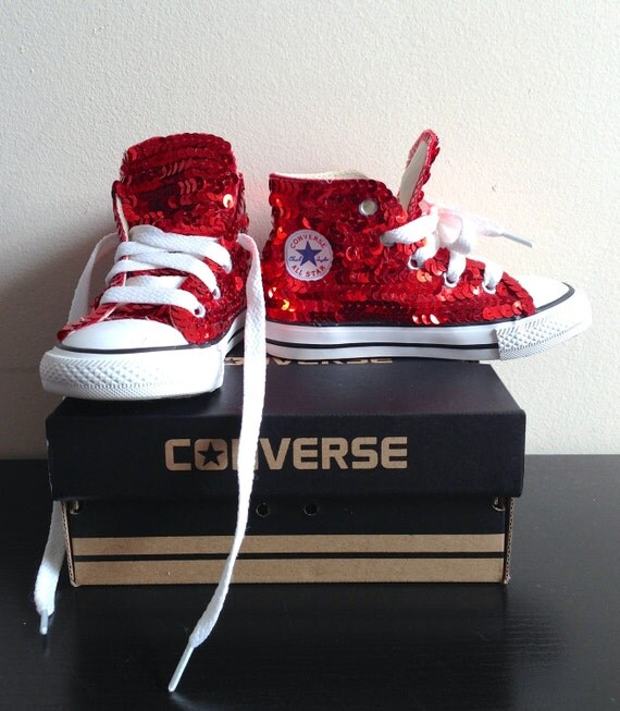 items similar to toddlers hightop sequined converse on etsy