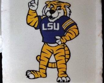L.S.U. Coaster Tiger Number 1