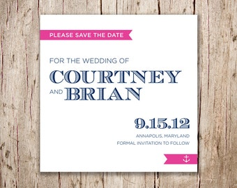 Nautical Save the Date / Modern Save the Date / Preppy Save the Date