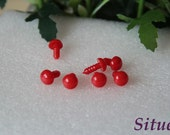 10 pairs  10mm Rabbit Eyes  Bunny Eyes Solid RED Safety Eyes for Amigurumi