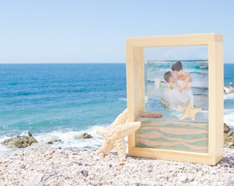 bamboo unity sand frame kit with engraving