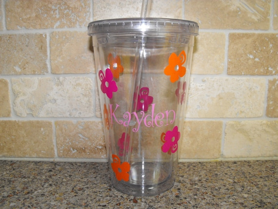 Flower Girl Gift - Monogrammed Gifts - Personalized Flower Girl Tumbler - 16oz tumbler with lid and straw - wedding gifts - wedding tumblers