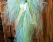 Adult tutu bustle bachelorette mermaid costume green and blue fairy tutu