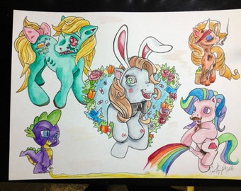 Cracked out My little pony tattoo flash