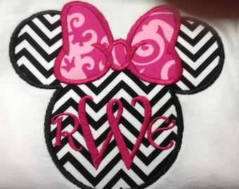 Disney Minnie Mouse Applique  Shirt (girls)