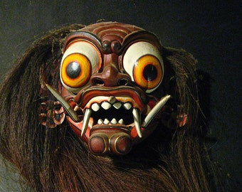 Mata Gede Demon Mask Museum Piece From Indonesian