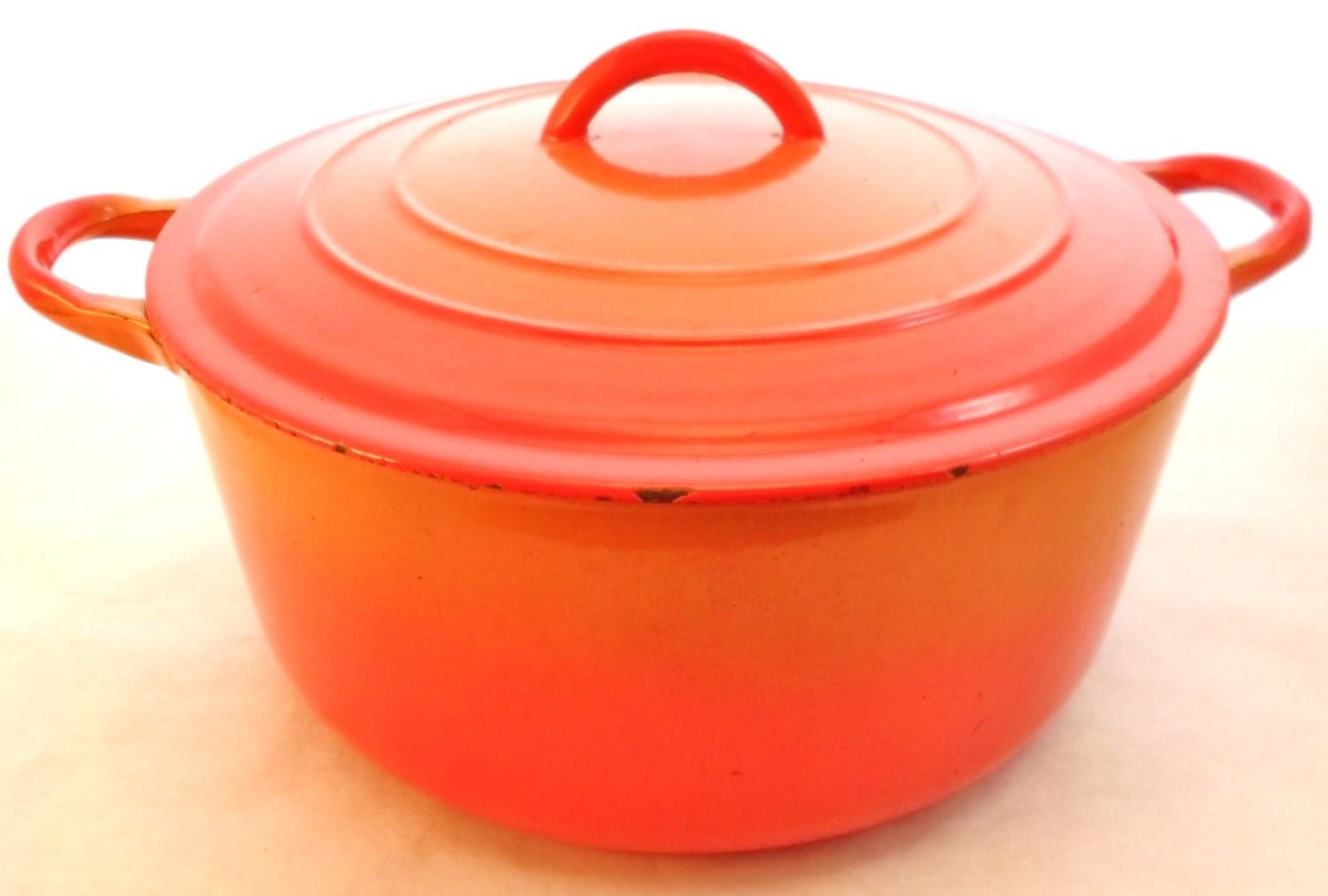 Vintage Le Creuset France Flame Orange By Debscountryvintage