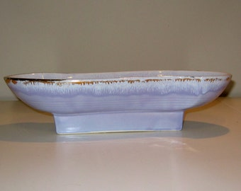 Vintage USA Planter in a Rare Lavender Color with Gold Detailing