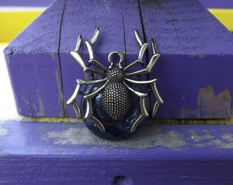 Fused Glass Spider Pendant