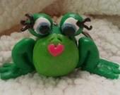 Polymer Clay Frog Keychain
