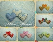 Hearts cushions dollhouse, hearts pillows miniature, fabric hearts miniature, handmade miniature - Dollhouses  Miniature scale 1:12