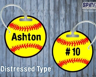 Personalized Softball Bag Tag