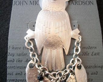 Original Eagle brooch by John Micheal Richardson in Silver