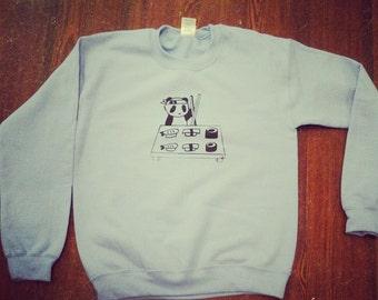Panda Making Sushi Sweatshirt