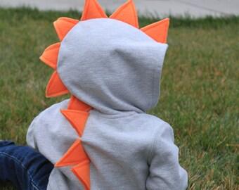 Toddler & Infant Dinosaur Dragon Monster Spike Hoodie Gift Idea Costume Dress-up Christmas gift
