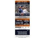 Custom NFL, NBA, NCAA or College Football & Basketball Sports Game Ticket Stub Save the Date Wedding Photo Magnet