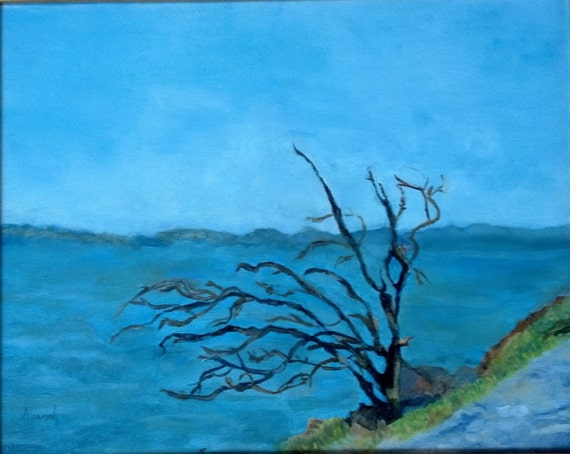Tree on the Hudson River   (Print Available)