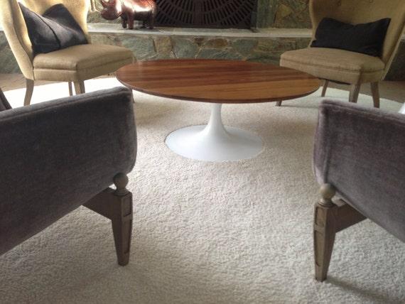 Burke Saarinen Style Tulip Coffee Table Mid Century Modern