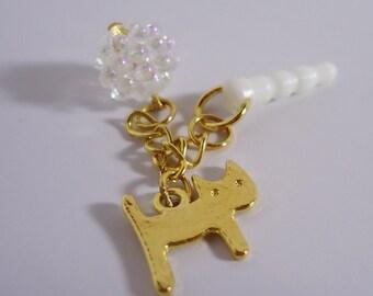 Kawaii Cat chain Earphone plug. Handmade